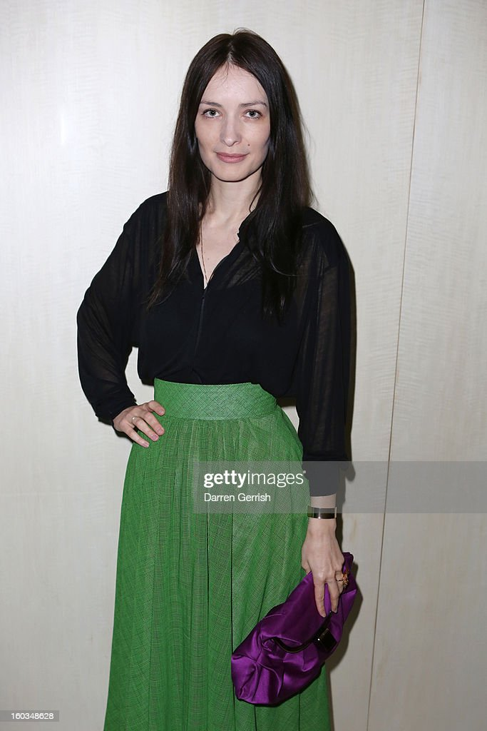 Roksanda Illincic attends Nobu Berkeley during the BFC/Vogue Designer Fashion Fund - Winners Announcement on January 29, 2013 in London, England.