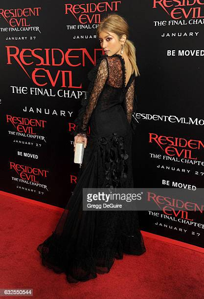 Rola arrives at the premiere of Sony Pictures Releasing's 'Resident Evil The Final Chapter' at Regal LA Live A Barco Innovation Center on January 23...