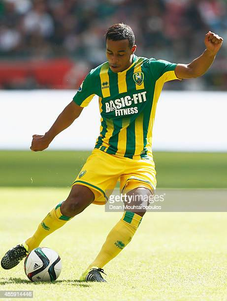 Roland Alberg of ADO Den Haag in action during the Dutch Eredivisie match between Ajax Amsterdam and ADO Den Hagg on August 30 2015 in Amsterdam...