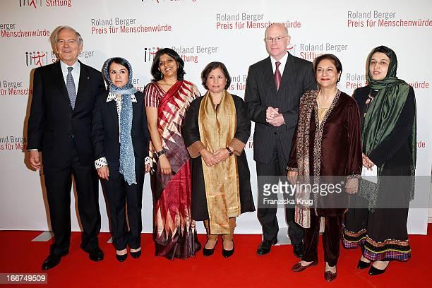 Roland Berger Leeda Yacoobi Kalpana Viswanath Suneeta Dhar Norbert Lammert Asma Jahangir and Hasina Safi attend the 'Roland Berger Human Dignity...