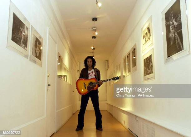 Roland Bolan the son of rock star Marc Bolan at the Proud Galleries in London The gallery will be showing an exclusive collection of photographs of...