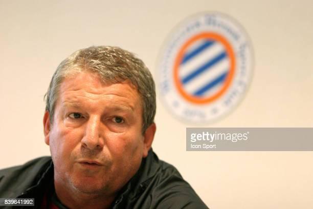 Roland COURBIS Nouvel entraineur de Montpellier pour les quatre derniers matchs de la saison Conference de presse Montpellier