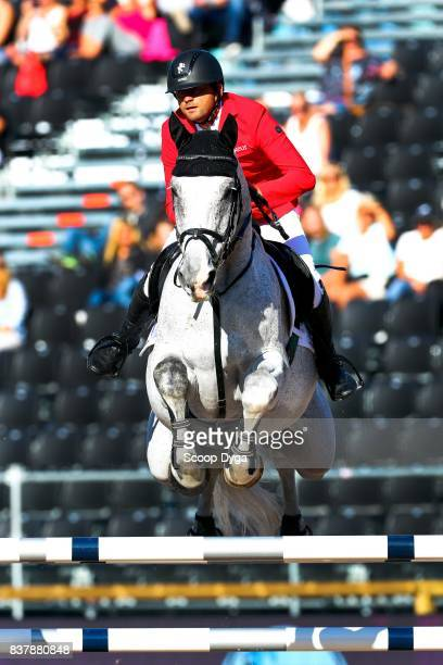 Roland Englbrecht riding Chambery during Nations Cup Part 1 of the Equestrian European Championships on August 23 2017 in Gothenburg Sweden