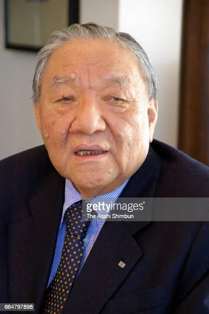 Roland founder Ikutaro Kakehashi speaks during the Asahi Shimbun interview on November 8 2006 in Japan