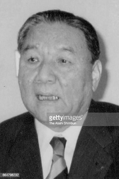 Roland founder Ikutaro Kakehashi speaks on November 29 1993 in Hosoe Shizuoka Japan