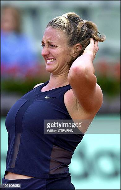 Roland Garros Tennis Tournament On May 29Th 2002 In Paris France Marie Pierce
