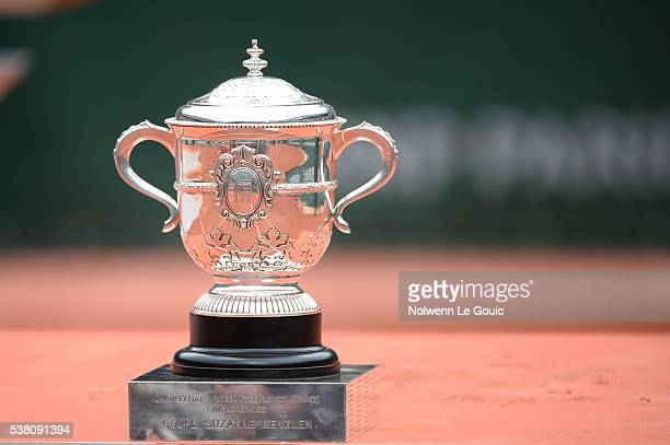 Roland Garros trophy during the day fourteen of the French Open 2016 at Roland Garros on June 4 2016 in Paris France