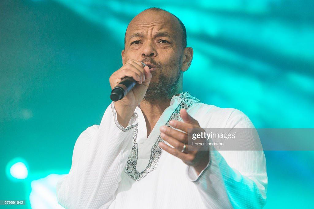 Roland Gift performs on day three of Rewind Scotland at Scone Palace on July 24 2016 in Perth Scotland