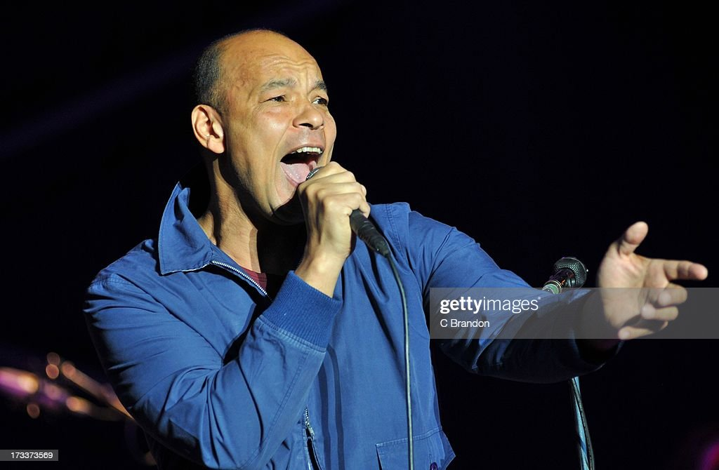 Roland Gift performs on stage at Kew Gardens on July 12, 2013 in London, England.
