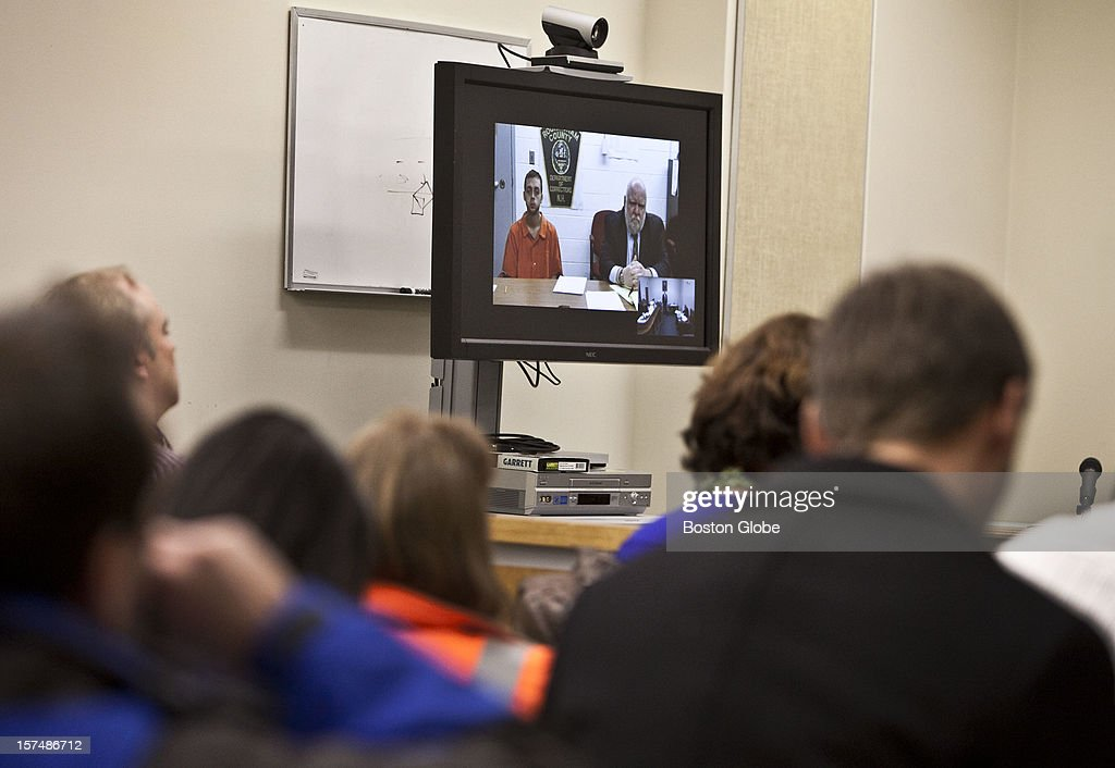 Roland H. Dow is arraigned at Plaistow District Court through a video feed on December 3, 2012 in Plaistow, New Hampshire. His bail was set at $500,000. Dow and Jessica Linscott were arraigned on charges in the beating and burning of the woman's 3-year-old son.