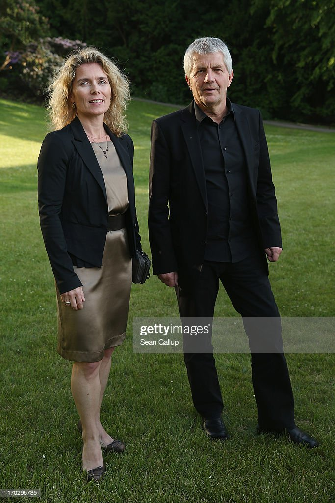 Roland Jahn and Dagmar Hovestaedt attend the Henry A. Kissinger Prize 2013 award at the American Academy in Berlin on June 10, 2013 in Berlin, Germany.