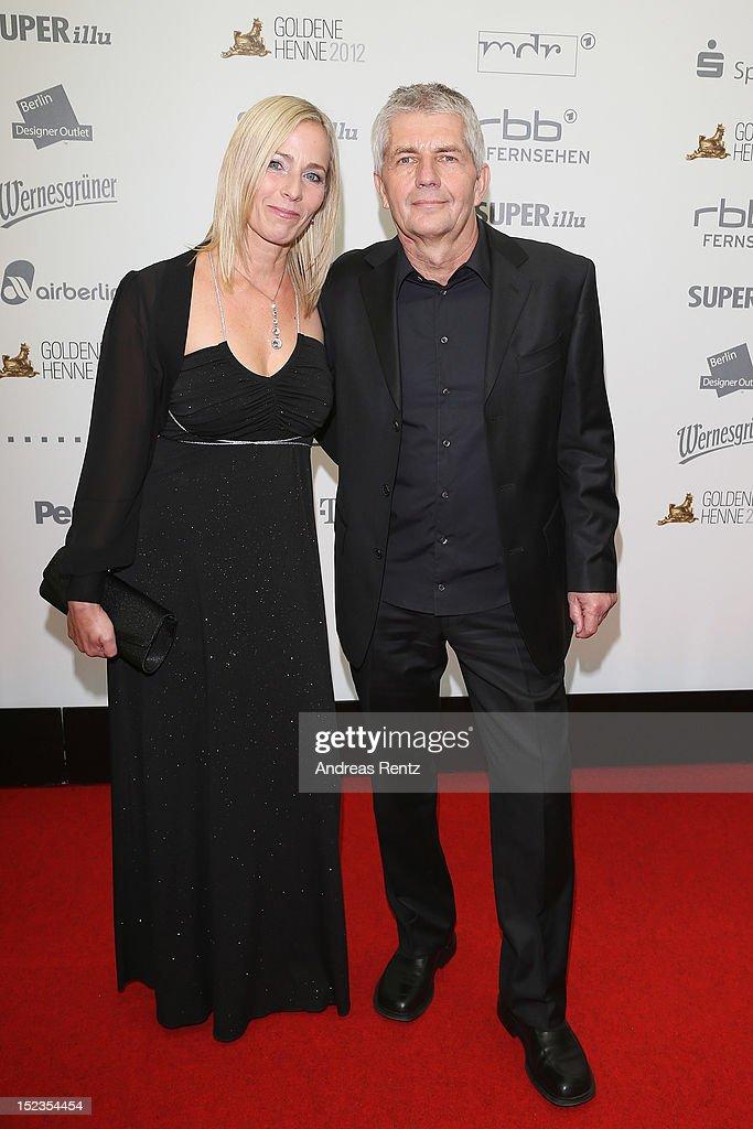 Roland Jahn and his Partner attend for the 'Goldene Henne' 2012 award on September 19, 2012 in Berlin, Germany.