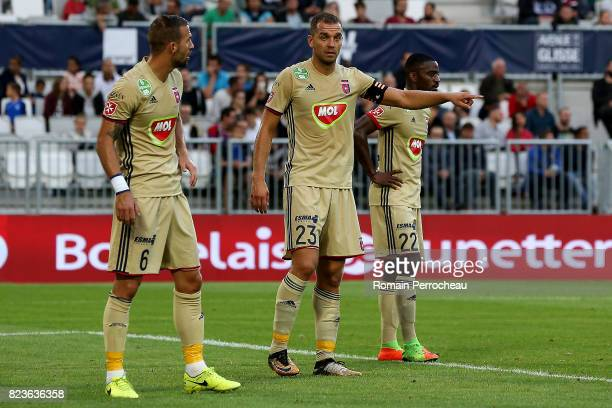 Roland Juhasz of Videoton gestures during the UEFA Europa League qualifying match between Bordeaux and Videoton at Stade Matmut Atlantique on July 27...