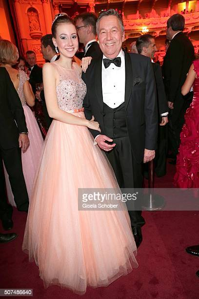 Roland Kaiser and his daughter Anna Lena Kaiser during the Semper Opera Ball 2016 at Semperoper on January 29 2016 in Dresden Germany