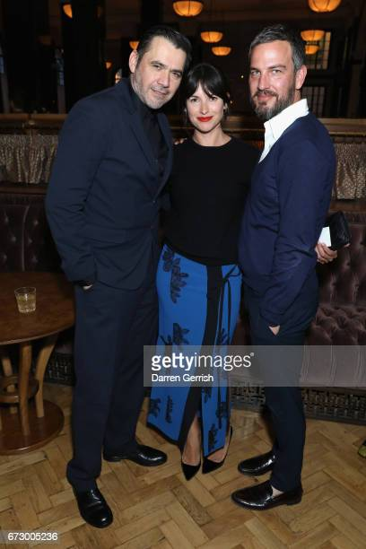 Roland Mouret Amelia Warner and Markus Anderson attend Roland Mouret's The Dinner of Love at Cecconi's a preopening dinner at The Ned on April 25...