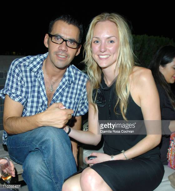 Roland Mouret and Maddy Platt during Olympus Fashion Week Spring 2006 Roland Mouret After Party hosted by Motorola at Thompson loft in New York City...