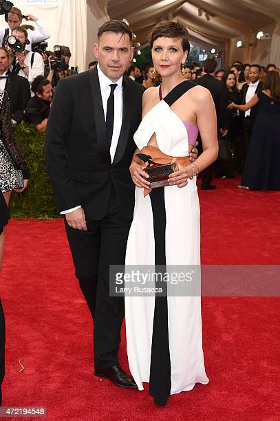 Roland Mouret and Maggie Gyllenhaal attend the 'China Through The Looking Glass' Costume Institute Benefit Gala at the Metropolitan Museum of Art on...
