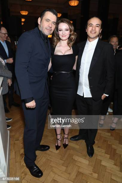 Roland Mouret Dakota BlueRichards and Sammy Sarfas attend Roland Mouret's The Dinner of Love at Cecconi's a preopening dinner at The Ned on April 25...