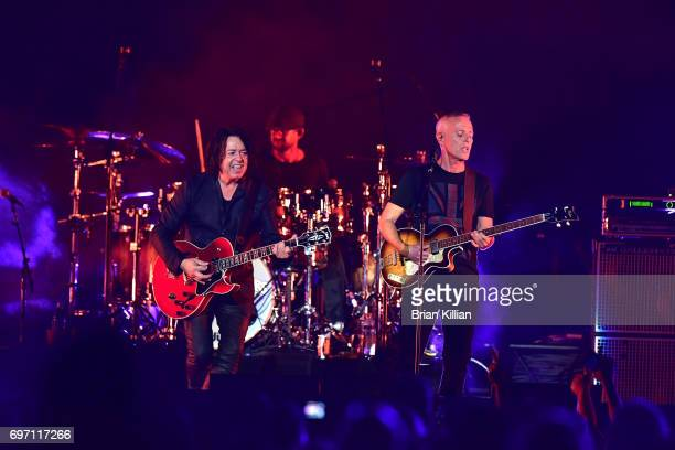 Roland Orzabal and Curt Smith of the group Tears for Fears perform during the Daryl Hall John Oats And Tears For Fears Concert at the Prudential...