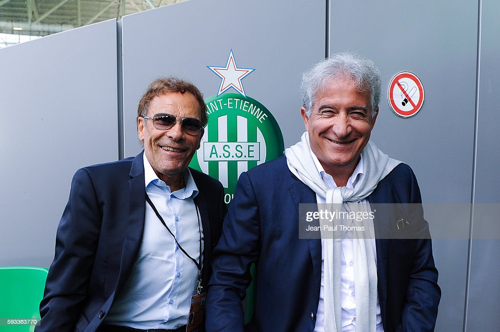 Roland ROMEYER and Bernard CAIAZZO president of Saint Etienne during the Ligue 1 match between As Saint Etienne and Montpellier Herault at Stade...