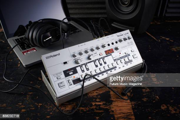 A Roland TB03 Bass Line synthesizer taken on January 9 2017