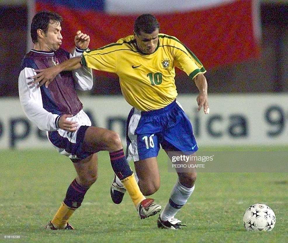 Rolando Alvarez of Venezuela L and Rivaldo of Br