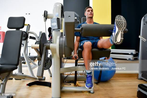 Rolando Mandragora attends Juventus medical tests on July 8 2017 in Torino Italy