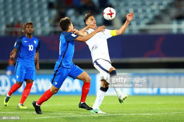 Rolando Mandragora of Italy and Amine Harit of France battle for control of the ball during the FIFA U20 World Cup Korea Republic 2017 Round of 16...