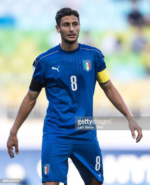 Rolando Mandragora of Italy looks on during the FIFA U20 World Cup Korea Republic 2017 group D match between South Africa and Italy at Suwon World...
