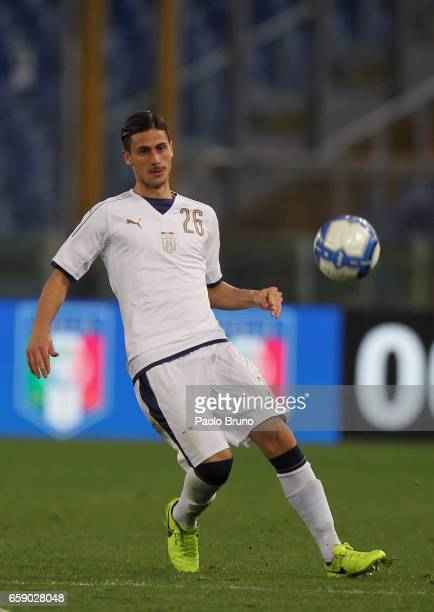 Rolando Mandragora of Italy U21 in action during the international friendly match between Italy U21 and Spain U21 at Olimpico Stadium on March 27...
