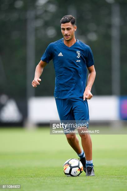 Rolando Mandragora of Juventus during a training session on July 9 2017 in Vinovo Italy