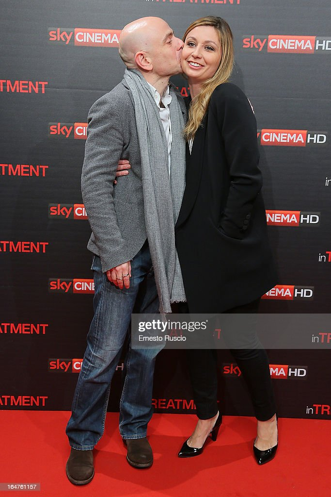 Rolando Ravello and Anna Ferzetti attend the 'In Treatment' premiere at Teatro Capranica on March 27, 2013 in Rome, Italy.