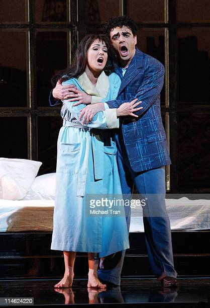 Rolando Villazon and Anna Netrebko during LA Opera Presents 'Manon' Dress Rehearsals September 27 2006 at Dorothy Chandler Pavillion in Los Angeles...