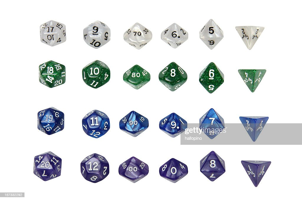 Role Play Dice : Stock Photo