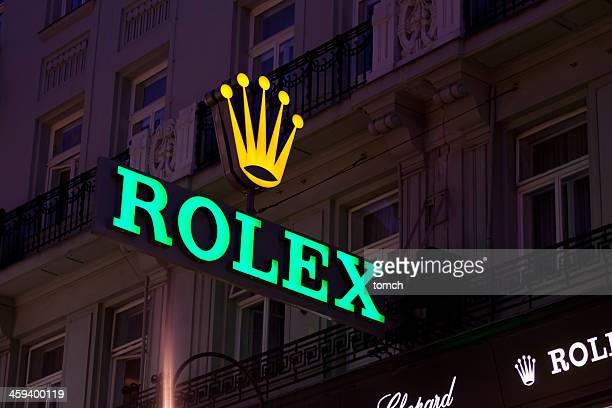 Rolex Panneau sur le côté du bâtiment.