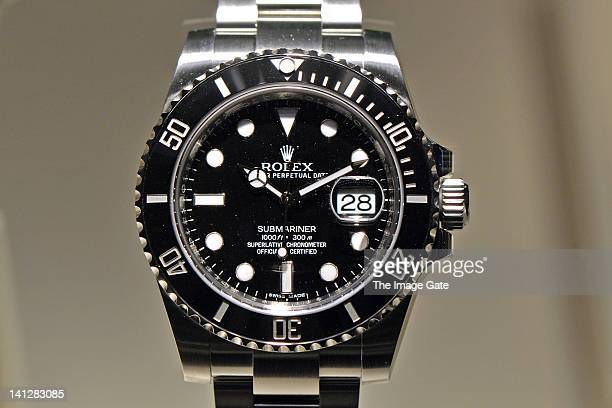 A rolex watch is displayed at BASELWORLD 2012 The World Watch And Jewellery Show on March 13 2012 in Basel Switzerland