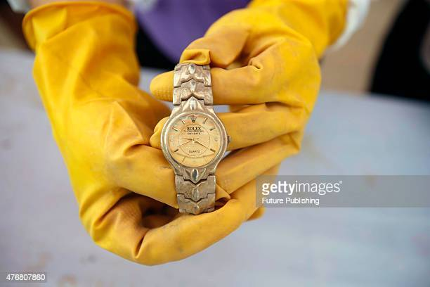 Rolex wristwatch collected from the sunken ship Oriental Star on Thursday June 11 2015 in Jianli China A tourist ship carrying approximately 456...