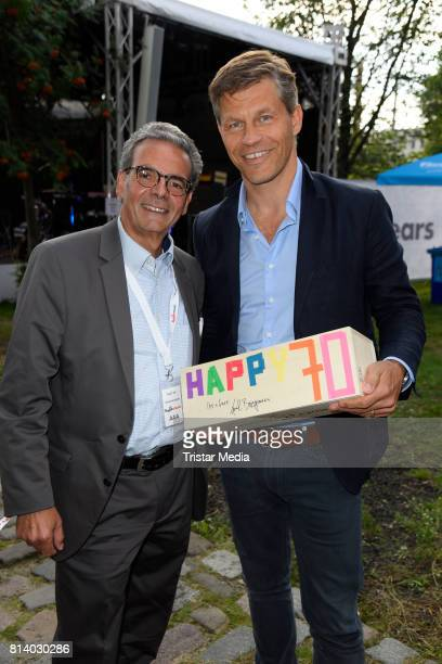 Rolf Budde and Frank Briegmann attend the 70th anniversary party of Budde Music on July 13 2017 in Berlin Germany