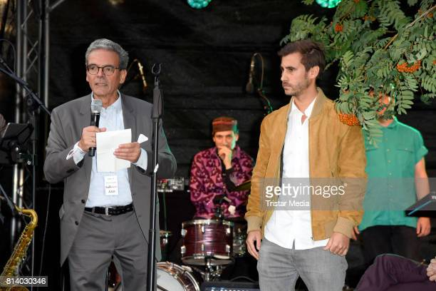 Rolf Budde and his son Benjamin Budde attend the 70th anniversary party of Budde Music on July 13 2017 in Berlin Germany
