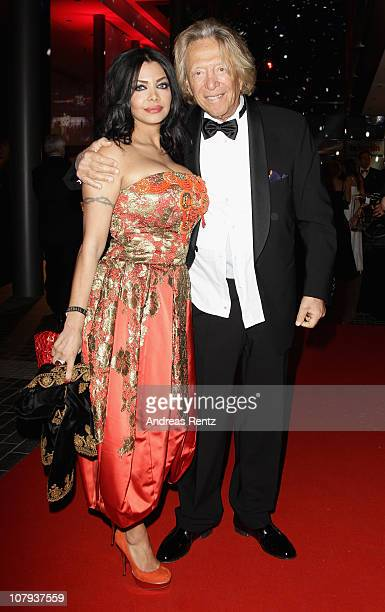 Rolf Eden and Kader Loth arrive at the Berlin Press Ball 2011 at the Ullstein hall on January 8 2011 in Berlin Germany