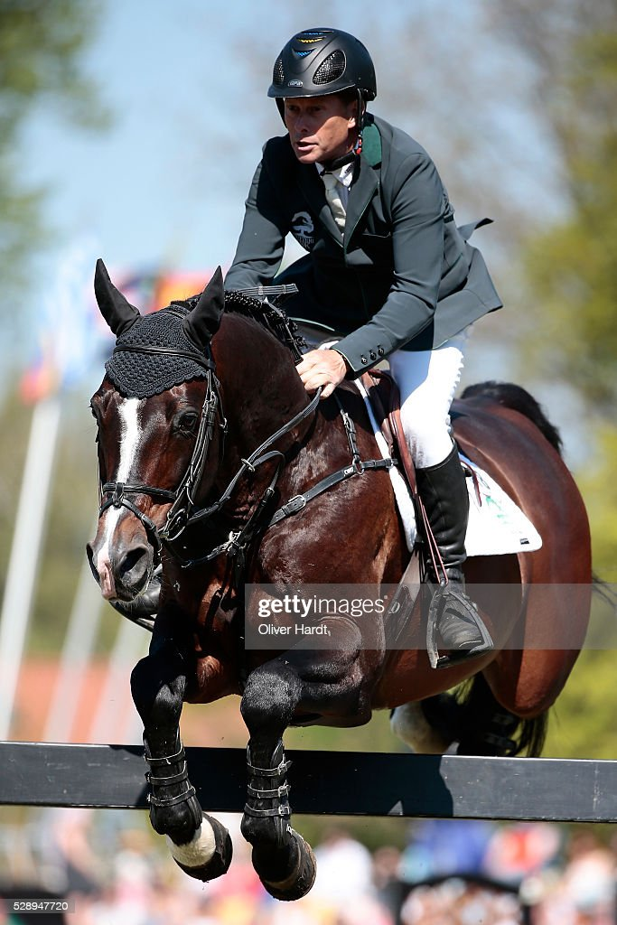 Rolf Goeran Bengtsson of Sweden riding Casall ASK during the Global Champions Tour Grand Prix of Hamburg on May 7, 2016 in Hamburg, Germany.