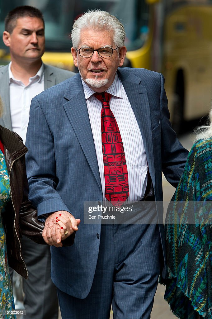 Rolf Harris arrives at Southwark Crown Court on June 27 2014 in London England