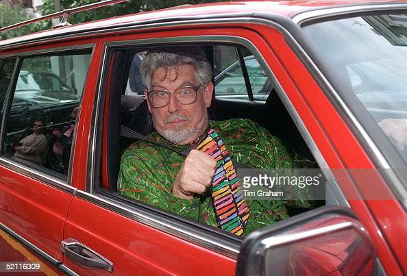 Rolf Harris Arriving For David Frost's Summer Party In Carlyle Square In London