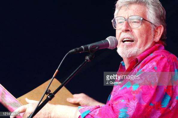 Rolf Harris during Guilfest 2004 Day Two July 17 2004 at Stoke Park in Guilford Great Britain