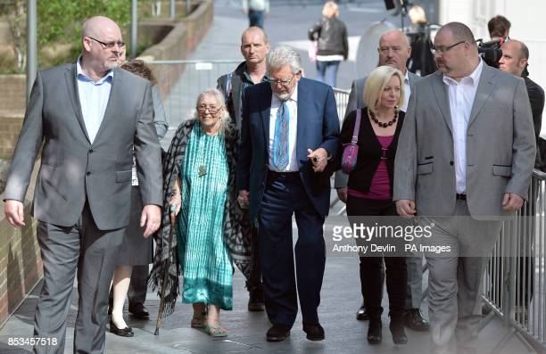 Rolf Harris leaves Southwark Crown Court with his wife Alwen following jury selection after the 84yearold pleaded not guilty to 12 charges dating...