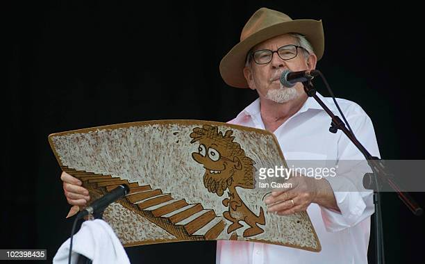 Rolf Harris performs live on the Pyramid Stage during Day 2 of the Glastonbury Festival on June 25 2010 in Glastonbury England This year sees the...