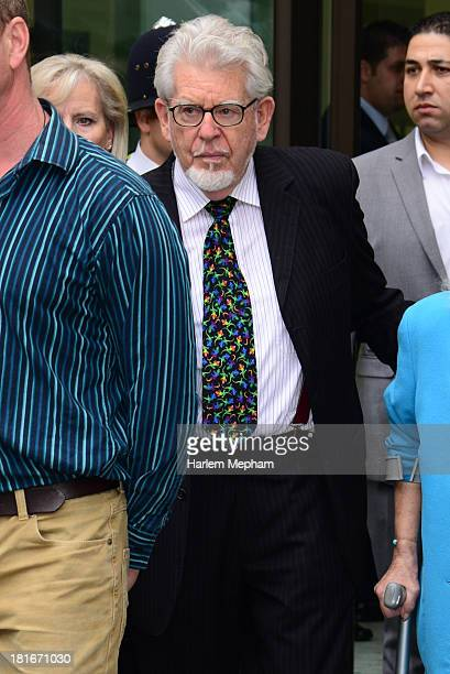 Rolf Harris sighted leaving Westminster Magistrates Court on September 23 2013 in London England