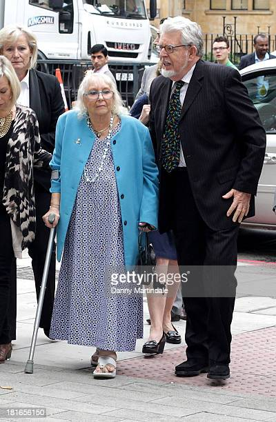 Rolf Harris wife Alwen Hughes and family arrives at Westminster Magistrates Court at The City of Westminster Magistrates Court on September 23 2013...