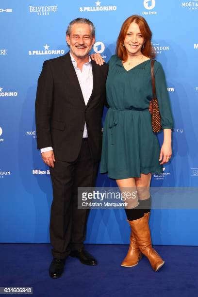 Rolf Kanies and Annika Ernst guest attend the Blue Hour Reception hosted by ARD during the 67th Berlinale International Film Festival Berlin on...