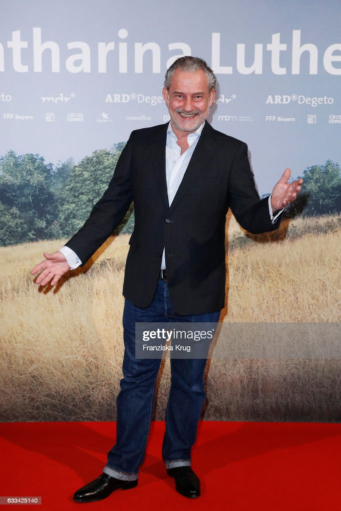 Rolf Kanies attends the 'Katharina Luther' Premiere at Franzoesische Friedrichstadtkirche in Berlin on February 1, 2017 in Berlin, Germany.